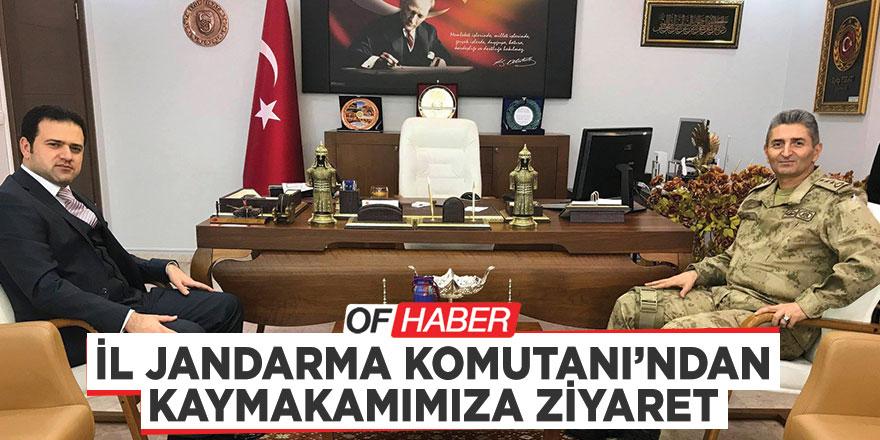 İL JANDARMA KOMUTANI'NDAN KAYMAKAMIMIZA ZİYARET
