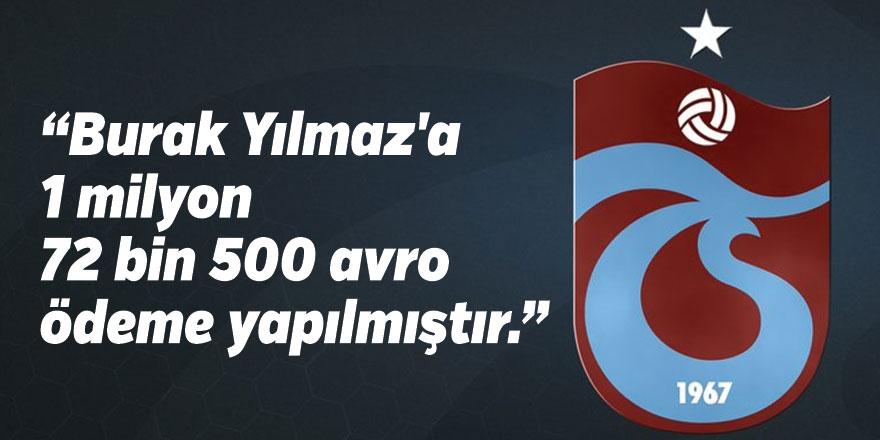 Trabzonspor'dan Burak Yılmaz'ın Alacaklarına İlişkin Açıklama