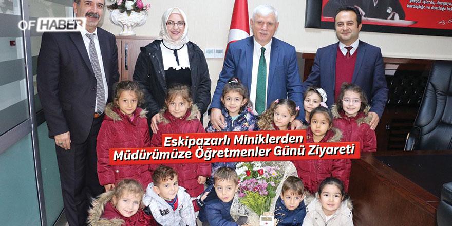 Eskipazarlı Miniklerden Müdürümüze Öğretmenler Günü ziyareti