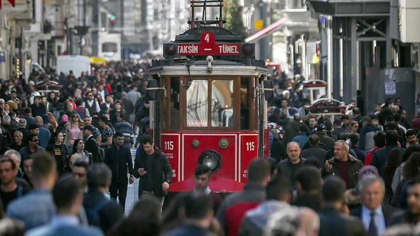 Türkiye'nin nüfusu 2018 yılında 1 milyon 193 bin 357 kişi arttı