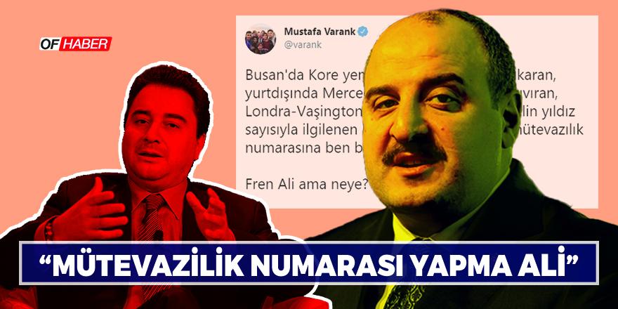 VARANK'TAN ALİ BABACAN'A FREN ALİ YANITI