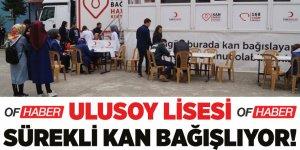 Ulusoy Lisesi sürekli kan bağışlıyor