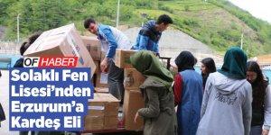 Solaklı Fen Lisesi öğrencilerinden Erzurum'a kardeş eli