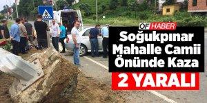 Soğukpınar Mahalle Camii Önünde Kaza:2 Yaralı, Can Kaybı Yok