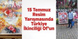 Murat Küçükibrahimoğlu 15 Temmuz resim yarışmasında Türkiye ikincisi