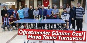 Öğretmenler Gününe Özel Masa Tenisi Turnuvası