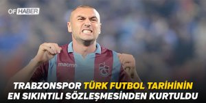 'Trabzonspor Türk futbol tarihinin en sıkıntılı sözleşmesinden kurtuldu'
