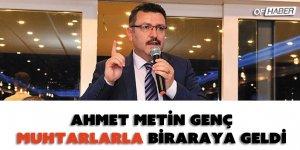 Ortahisar Belediye Başkanı Genç, Muhtarlarla Bir Araya Geldi