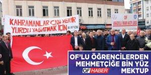 Oflu öğrencilerden Afrin´deki Mehmetçiğe bin yüz mektup